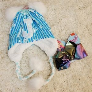 Girl Bundle Justice Sequins Beanie and JoJo Bow